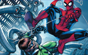 Fondo-de-pantalla-Spiderman-vs-Octopus
