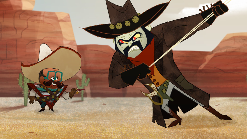 """PENN ZERO: PART-TIME HERO - """"Old Old West"""" - """"Penn Zero: Part-Time Hero,"""" an animated comedy adventure series about Penn Zero, a regular boy who inherits the not-so-regular job of part-time hero, is set for a simulcast premiere FRIDAY, FEBRUARY 13 (9:45 p.m., ET/PT) on Disney XD and Disney Channel, with three additional episodes premiering over the holiday weekend on Disney XD. (Disney XD) LARRY, RIPPEN"""