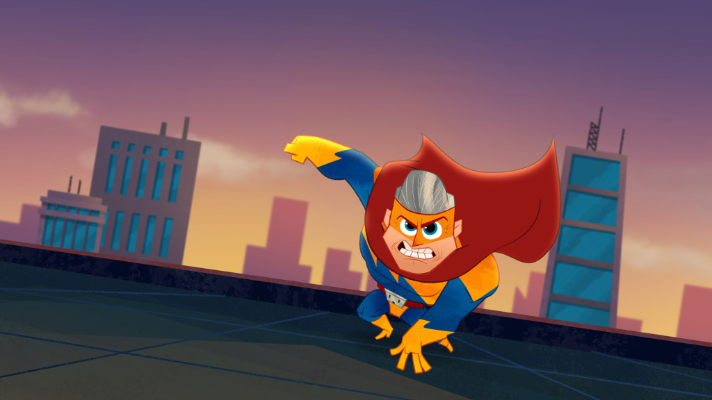 """PENN ZERO: PART-TIME HERO - """"I'm Still Super!"""" - Penn returns to the world of superheroes, only to discover the heroes have been turned evil by Captain Super Captain's evil twin brother, Professor Evil Professor. This episode of """"Penn Zero: Part-Time Hero"""" will air Monday, April 6 (7:30 PM - 8:00 PM ET/PT), on Disney XD. (Disney XD) CAPTAIN SUPER CAPTAIN"""